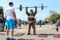 Силовое многоборье среди пожарных Хакасии