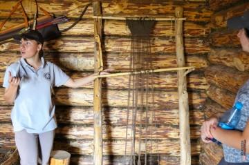 """Комплекс исторических реконструкций """"Поселок предков"""". Заповедник Хакасский. Оглахты."""